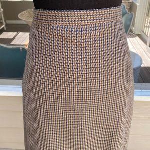 Vintage 90s Highwaisted Aline Herringbone Skirt